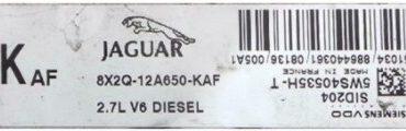 Jaguar XK 2.7 V6, SID 204, 5WS40535H-T, 8X2Q-12A650-KAF, KAF