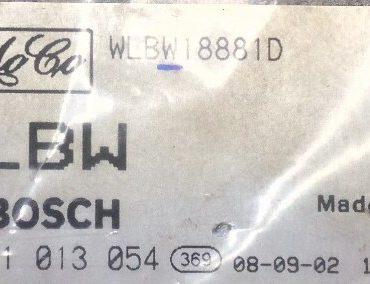 Ford Ranger 2.5 XLT, 0281013054, 0 281 013 054, WLBW18881D, WLBW