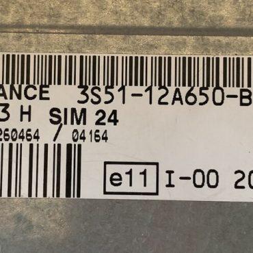 Ford KA 1.3, SIM 24, S118685003H, S118685003 H, 3S51-12A650-BG, J38AC