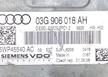 Audi, 03G906018AH, 03G 906 018 AH, 5WP45540AC, 5WP45540 AC, PPD1.2