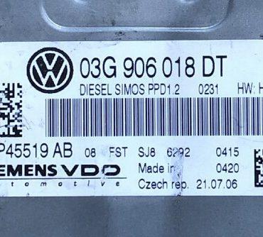 VW, 5WP45519AB, 5WP45519 AB, 03G906018DT, 03G 906 018 DT, PPD1.2