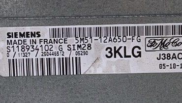 Ford, S118934102G, S118934102 G, 5M51-12A650-FG, 3KLG, SIM28