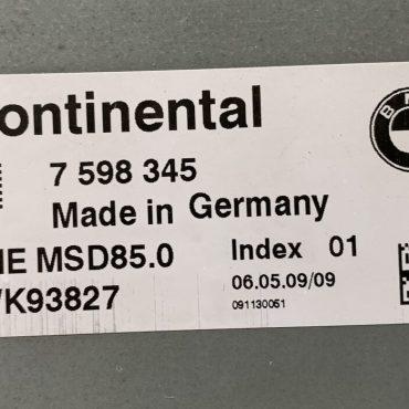 BMW DME MSD85.0, 7598345, 7 598 345, 5WK93827, INDEX 01