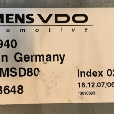 BMW, 7586940, 7 586 940, DME MSD80, 5WK93648, INDEX 02