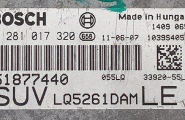 Fiat Sedici 2.0 JTD, 0281017320, 0 281 017 320, 51877440