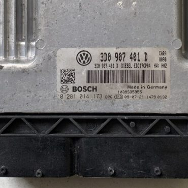 VW Phaeton 3.0 TDI, 0281014173, 0 281 014 173, 3D0907401D, 3D0 907 401 D, EDC17CP04