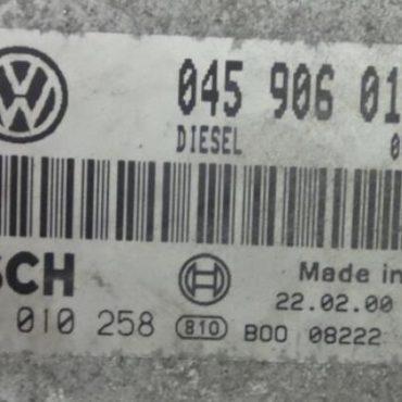 Bosch Engine ECU, VW Lupo 1.2TDi, 0281010258, 0 281 010 258, 045906019Q, 045 906 019 Q