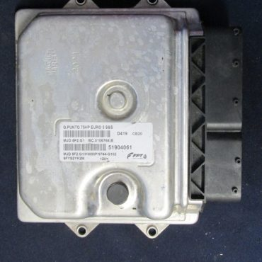FPT Engine ECU, Fiat Punto, MJD 8F2.G1, BC.0106768.B, 51904061