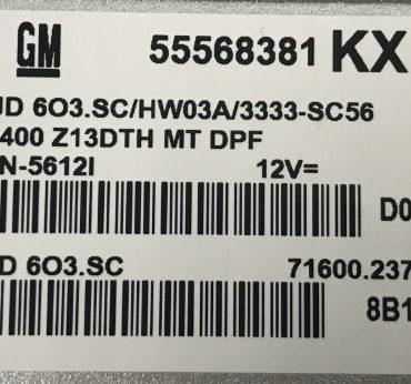 55568381, MJD 603.SC, KX