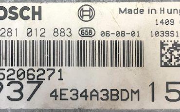 Alfa Romeo 147 1.9 JTDM, 0281012883, 0 281 012 883, 55206271, 1039S13475