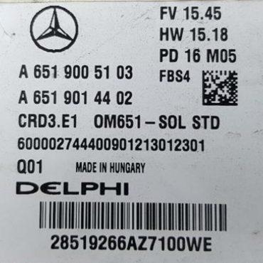 Delphi Engine ECU, Mercedes-Benz, A6519005103, A 651 900 51 03, A6519014402 A 651 901 44 02, CRD3.E1 OM651-SOL STD