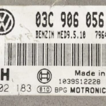 Bosch Engine ECU, VW Golf 1.6 FSI, 0261S025183, 0 261 S02 183, 03C906056CG, 03C 906 056 CG, MED9.5.10