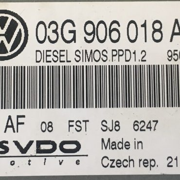 VW Passat 2.0TDi, 5WP45514AF, 5WP45514 AF, 03G906018AS, 03G 906 18 AS, PPD1.2