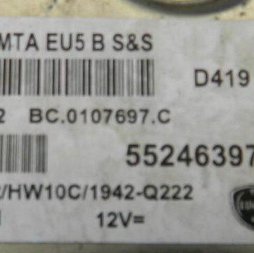 Magneti Marelli Engine ECU, Peugeot Bipper, MJD 8F3.Q2, 55246397, BC.0107697.C