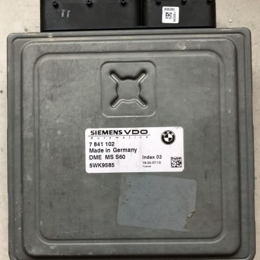 Continental Engine ECU, BMW, DME MS S60, 7841102, 7 841 102, 5WK9585, Index 03