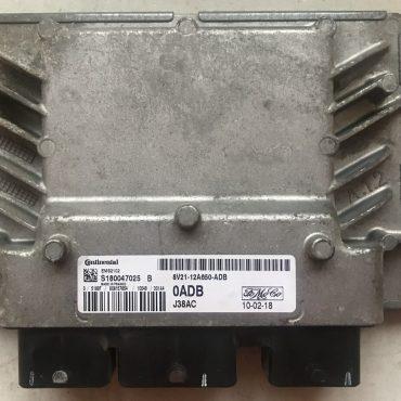 Continental Engine ECU, Ford Fiesta, EMS2102, J38AC, S180047025B, S180047025 B, AV21-12A650-ADB, 0ADB