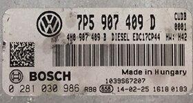 Porsche Cayenne 4.2TDi , 0281030986, 0 281 030 986, 7P5907409D , 7P5 907 409 D , EDC17CP44