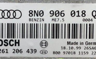 Audi, 0261206439, 0 261 206 439, 8N0906018Q, 8N0 906 018 Q, 26SA6741, ME7.5