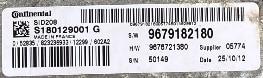 Citroen Relay 2.2HDi, S180129001 G, 9679182180, SW9679182180, 9676721380, HW9676721380, SID208