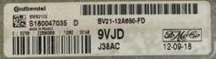 Ford Fiesta 1.2, EMS2102, J38AC, S180047035D, S180047035 D, BV21-12A650-FD, 9VJD