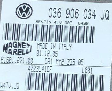 Magneti Marelli Engine ECU, VW, 036906034JQ, 036 906 034 JQ, 61601.271.00, IAW4TV.JQ