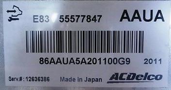 ACDelco, 55577847 AAUA, E83