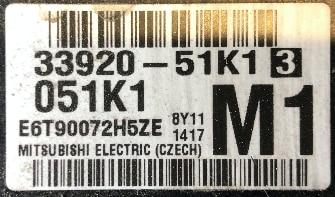 Suzuki Agila 1.2, 33920-51K1 , 051K1, M1