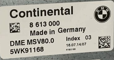 BMW, 8613000, 8 613 000, DME MSV80, 5WK91168, Index 03