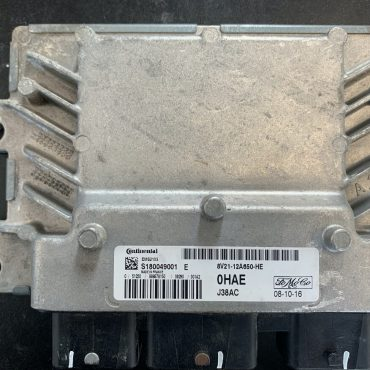 Continental Engine ECU, Ford Fiesta 1.6L, S180049001 E , 8V21-12A650-HE, 0HAE, EMS2103