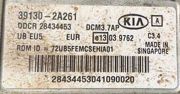 Kia Rio, 39130-2A261, DDCR 28434453, DCM3.7AP