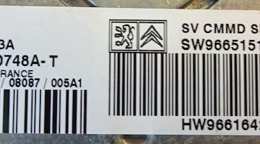 Peugeot 407 HDi, 5WS40748A-T, SW9665151780, HW9661642180, SID803A