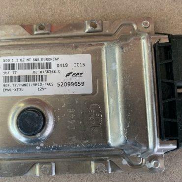 Magneti Marelli Engine ECU, Fiat 500, BC.0158368.C, 52099659, HWN01, 9GF.T7