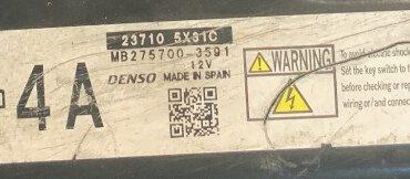 Nissan Navara Engine ECU DENSO, MB275800-3591, 23710 5X31C, 4A