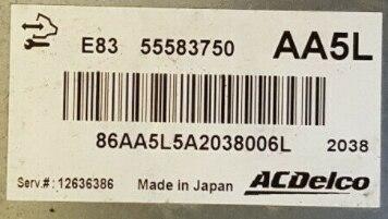 Corsa 1.4 Engine ECU, ACDelco, 55583750, AA5L, E83