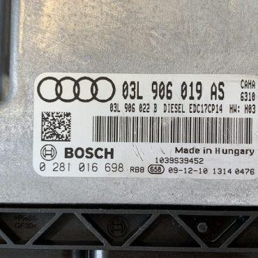 Audi TDI, 0281016698, 0 281 016 698, 03L906019AS, 03L 906 019 AS, 1039S39452, EDC17CP14