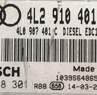 Engine ECU, Audi Q7 3.0 TDI, 0281018301, 0 281 018 301, 4L2910401B, 4L2 910 401 B, 4L0907401C, 4L0 907 401 C, 1039S64865, EDC17CP44