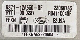Ford Mondeo 2.0TDCi Delphi Engine ECU, 28080785, 6S71-12A650-BF, FFKN, E2U9A, R0411C040F