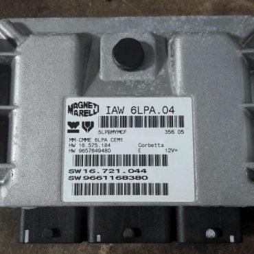 Magneti Marelli Engine ECU, Peugeot 307 2.0, IAW 6LPA.04, HW 16.575.184, HW 9657649480, SW 16.721.044, SW 9661168380