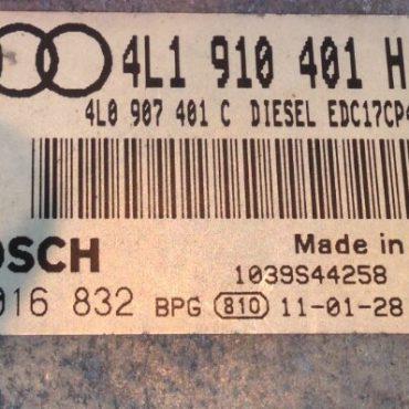 Audi Q7 3.0 TDI, 0281016832, 0 281 016 832, 4L1910401H, 4L1 910 401 H, 1039S44258, EDC17CP44