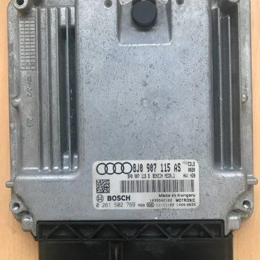 Bosch Engine ECU, Audi TT 2.0TFSi, 0261S02769 , 0 261 S02 769, 8J0907115AS, 8J0 907 115 AS, 1039S42162
