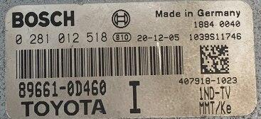 Bosch Engine ECU, Toyota Yaris, 0 281 012 518, 0281012518, 89661-0D460, 1039S11746