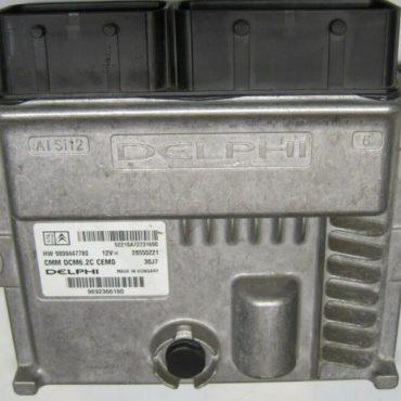 Delphi Engine ECU, PEUGEOT/ CITROEN, 9692366180, 28555221, HW 9809447780, DCM6.2C