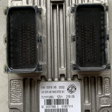 Magneti Marelli Engine ECU, Fiat 500, IAW 5SF9.MS, HW405, BC.0097068.E, 51857111