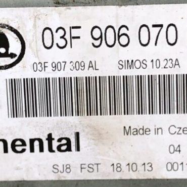 SKODA FABIA, 03F906070HP, 03F 906 070 HP, 5WP44845, SIMOS 10.23A