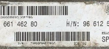Citroen/ Fiat, SW9666146280, S/W: 96 661 462 80, HW9661256980, H/W: 96 612 569 80, DCU-102