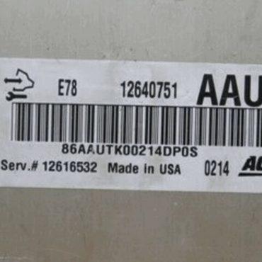 Vauxhall, Opel, 12640751, AAUT, E78, 12616532