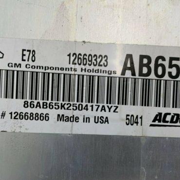 Vauxhall, Opel, 12669323, AB65, E78, 12668866