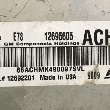 Vauxhall, Opel, 12695605, ACHM, E78, 12692201