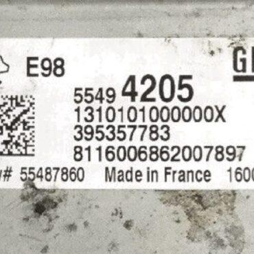 Vauxhall, Opel, 55494205, 1310101000000X, 395357783, 55487860, E98