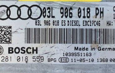 Audi Q3 2.0 TDI , 0281018559, 0 281 018 559, 03L906018PH, 03L 906 018 PH, EDC17C46, 1039S51163